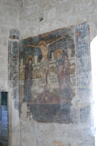 τοιχογραφία με την Σταύρωση του Χριστού