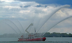 Harbour Front on Canada Day (Freight-Train) Tags: street toronto ontario canada fire boat harbour candid lakeshore harbourfront canadaday lakefront fireboat harborfront searchandrescue queensquay