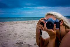 Look (kliqs) Tags: beach canon 1 girlfriend ae1 sony 7 blonde ae gf nex