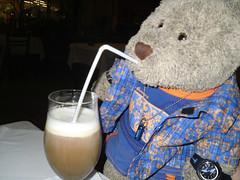 """Don't tell Mum...!"" (pefkosmad) Tags: bear ted coffee naughty fun toy restaurant teddy drink irishcoffee hellas fluffy cheeky greece softie taverna greekislands flavia pefkos griechenland rodos rhodes jameson dodecanese pefki pefkoi tedricstudmuffin tedrhodes2015"