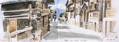 Saint Luc Valais Switzerland (Vincent Desplanche) Tags: mountain montagne watercolor switzerland sketch suisse aquarelle sketchbook wallis valais croquis anniviers saintluc