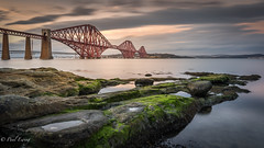Rock Pools and a Bridge (Paul S Ewing) Tags: forth firth forthrailbridge scotland southqueensferry uk rocks landscape longexposure sunset