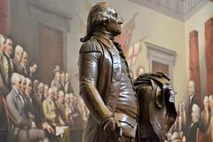 George Washington (KaDeWeGirl) Tags: washingtondc capitol building rotunda georgewashington jean antoine houdon bronze statue john trumbull declaration independence painting