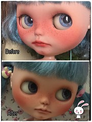 Re-faceup my Blue🍓🍓.. satisfied with the new one ! 😍😘