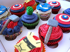 Avengers Cupcake (Couture Cakes & Dreams) Tags: birthday man cake america iron celebration cupcake captain superheroes hulk thor marvel avengers