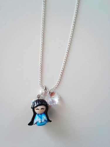 Chibi Seasons- Winter Kimono Doll Necklace