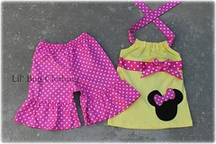 minnie (Lil' Bug Clothing) Tags: pink yellow mouse short minnie halter