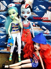 Sail Away, Sail Away (Nataloons) Tags: blue red white fashion toy boat doll sailing outdoor witch vampire barbie pack anchor boating sail recreation sailor nautical mermaid mga fins bratz fianna broomstix bratzillaz meygana uploaded:by=flickrmobile flickriosapp:filter=nofilter vampelina fiannafins
