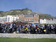 Bikers Day in Hastings (the.misspiggy) Tags: sea england rocks hastings bikers