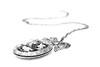 The Owl Necklace (OCarpinteyro) Tags: blackandwhite bw macro canon eos rebel blackwhite owl t3 collar accesories necklance
