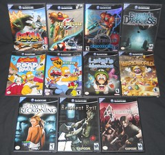 Nintendo Gamecube Game Collection (Malidicus) Tags: darkness nintendo evil games simpsons godzilla console gamecube metroid eternal resident