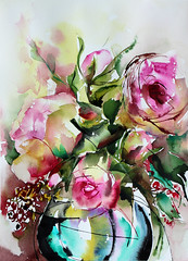 chabada (veroniquepiaser-moyen) Tags: flowers flower art fleur fleurs watercolor painting drawing aquarelle peinture bouquet artcontemporain bouquets toile pigments moyen contemporaine chssis piaser piasermoyen vroniquepiaser vroniquemoyen vroniquepiasermoyen