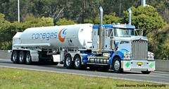 Coregas Kenworth T908 (Bourney123) Tags: highway empty south north semi gas bonnet bound tanker trucking loaded kenworth haulage t908