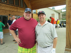Paul Thielman '87 and Mark Torgerson (University of Minnesota, Morris Alumni Association) Tags: golf athletes cougar alumni umm outing cougars cougarfootball