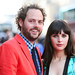 Director Drake Doremus and Felicity Jones arriving on the red carpet for Breathe In at the Festival Theatre