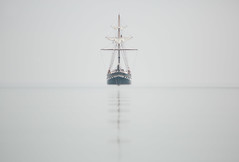 Fair Jeanne Tall Ship, Lake Ontario (Christopher Brian's Photography) Tags: fog tallship lakeontario fairjeanne canonef300f4usmlis canoneos5diii