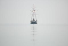 Fair Jeanne Tall Ship, Lake Ontario (Christopher Brian's Photography) Tags: fog tallship lakeontario fairjeanne canonef300f4usmlis canoneos5diii