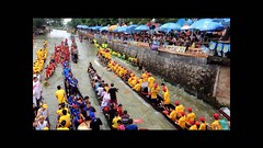Dragon boats parade  (Mel@photo break) Tags: china people man game water colors river boat village group chinese culture battle parade mel tradition melinda activity dragonboat folks waterwar  shunde waterbattle    chanmelmel