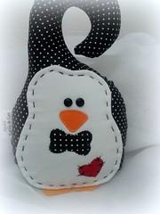 pinguim de maaneta (Estilo & Cor) Tags: artesanato decorao pinguim maaneta