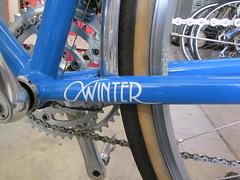 WINTER decal, applied (jimgskoop) Tags: blue winter building bicycle cycling awesome rando pelican rack custom bitchen epic racks randonneur 700c boxdogbikes 2013 bdb eyefi