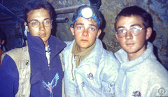 Friends into the silver mine (JF Sebastian) Tags: friends portrait friend mine group bolivia tunnel thatsme scannedslide takenby potosí rutaquetzal digitalized morethan100visits morethan250visits rutaquetzal1996 oldfilmautomaticcamera