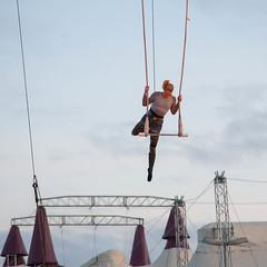 Smooth Operator (selmathk) Tags: sky canon circus air smooth bluesky tent midnight acrobatics 5d acrobat operator punks cirkus acrobatic circustent midnightshow smoothoperator aerialist canoneos5d canonef24105mmf4isusm burntoutpunks