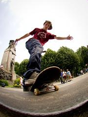 Prick the clouds until they burst (fedeskier) Tags: torino day skateboarding board go rail slide skate turin 5050 matte 2012 reali gardini quagli
