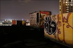 Sweet Toof, Rowdy, Fang, Crust, Sore, Kewl... (Alex Ellison) Tags: urban rooftop night crust graffiti cityscape bc boobs tag chrome crocodile croc fu graff rowdy fang kewl eastlondon sore throwup mlc cwc krust throwie burningcandy sweettoof foofe