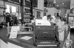 Not My Type(writer) - Heritage Bicycle (Fogel's Focus) Tags: chicago coffee bike typewriter bicycles diafine acros underwood ricohgr1v 4545 film:iso=100 legacypro100 acufinediafine developer:brand=acufine developer:name=acufinediafine film:brand=freestylearista freestylearistalegacypro film:name=freestylearistalegacypro100 heritagegeneralstore parkedandlocked filmdev:recipe=8912