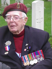 Ted Hold-6th Airborne Division (delta23lfb) Tags: ww2 veteran spectacles hold medals galsses royalsignals 6thairborne airbornecemetery tedhold