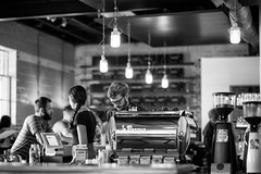 Brew & Brew - 1 (-Dons) Tags: light usa austin texas unitedstates tx barista grinder coffeehouses espressomachine wrightbrosbrewbrew