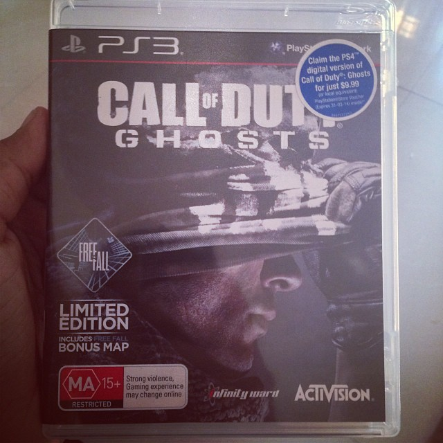 finally got Call Of Duty Ghosts  #CallIfDuty #COD #Ghosts #ghost #game #gamer #PS3 #PS4