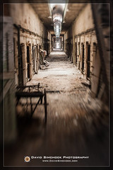 Eastern State Penitentiary - Philadelphia, PA (David Simchock Photography) Tags: musician music philadelphia museum lensbaby photography photo concert nikon ruins image performance ruin band hallway prison event jail philly esp watermark museam easternstatepenitentiary cellblock correctionalfacility phototour vagabondvistas davidsimchock davidsimchockphotography