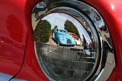 1939 Ford Reflection in chrome (osubuckialum) Tags: show cruise cars nc favorites northcarolina myfavorites carshow garner cruisein grill57