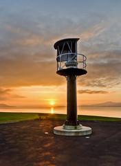 Buncrana Lighthouse (DannyBradley) Tags: ireland sunset sky lighthouse seascape beach sunshine photoshop bay exposure photographer wideangle hdr donegal inishowen buncrana swilly photomatix tonemapped irishlandscape cs5 d7000 dannybradleyphotography