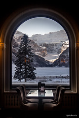 Banff National Park (LeCachacs) Tags: park winter lake snow canada mountains hotel rocky louise alberta banff fairmont