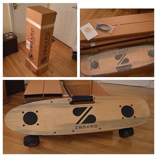 IT HAS ARRIVED! What an amazing gift. Thank you for contributing and making this possible. As soon as it stops raining, more pictures to come! #nyc #zboard #crowdsourced #skateboard #EV #tech #commuter #travel #lesscabs #psyched #stoked #techtoys #techlus
