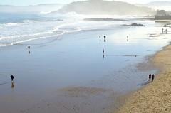La playa es un espejo (Álvaro Fernández Maza) Tags: naturaleza nature del de landscape photography la nikon gente playa paisaje un espejo es fernández santander diciembre reflejos maza caminando álvaro sardinero 2013 d5100 fotogra´fia