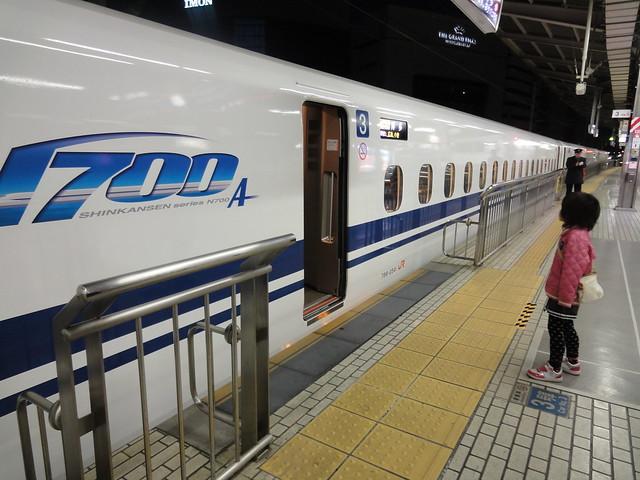 新幹線に乗っていざ出発。|名古屋駅
