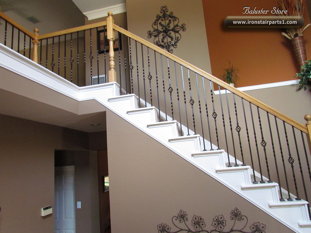 Beau Wrought Iron Balusters (stair Balusters) Tags: Building Home Metal Stairs  For Iron Stair