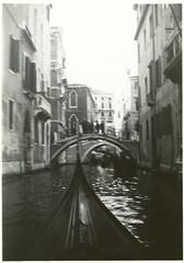 Italy, Venice, Canal view from gondola, 1933 (real00) Tags: venice blackandwhite bw italy monochrome vintage canal 1930s italia historic transportation gondola venezia waterway canale 1933 roundtheworld
