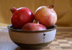 Granatäpfel (Mausloewin) Tags: food rot früchte keramik granatäpfel foodfotografie