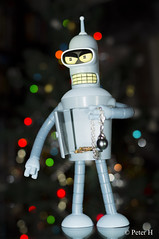 Bender voleur. (Peter H. Photographie) Tags: toy robot bokeh sony jewelry bijoux figure futurama bender figurine a580 sonydt35mmf18sam