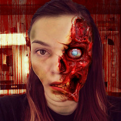 Andrea bloody jaw (llphoto168) Tags: halloween face photoshop scary zombie andrea stlouis missouri edit bradlawrence llphoto168