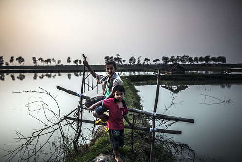 Boys posing for the photographer in Khulna, Bangladesh. Photo by Felix Clay/Duckrabbit.