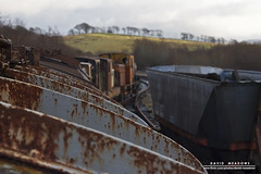 View From Above (DMeadows) Tags: abandoned train wagon landscape scotland rust perspective ruin railway goods line container vehicles abandon vehicle waterside wagons ruined patna dalmellington davidmeadows dmeadows davidameadows dameadows