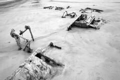 Shipwreck in Portsalon (Dave Road Records) Tags: ireland blackandwhite monochrome beaches rabbits irishbeach donegal portaslon drumnacraig