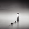 Seaton Sluice Harbour Groyne (Alistair Bennett) Tags: longexposure sunset seascape mono evening rocks harbour northumberland groyne seatonsluice markerpost nd18 gnd075he sigma50mmƒ14exdg