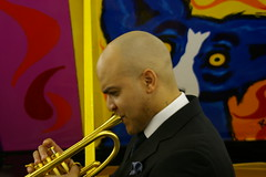 Irvin Mayfield at the New Orleans Jazz Market Groundbreaking Ceremony, February 25, 2014, New Orleans, Louisiana