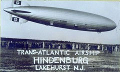 Hindenburg at Lakehurst, New Jersey 1937 (rich701) Tags: blackandwhite bw 1936 vintage newjersey nj blimp airship hindenburg 1937 lakehurst olympicrings lz129 db602
